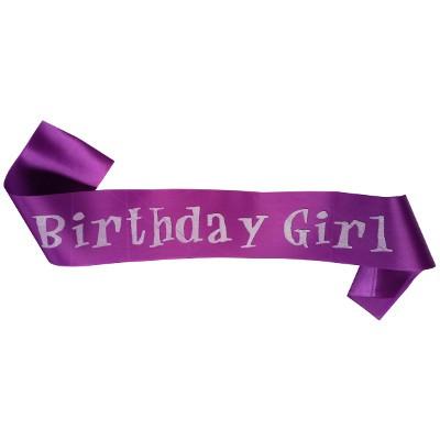 Birthday Girl Sash (Purple)