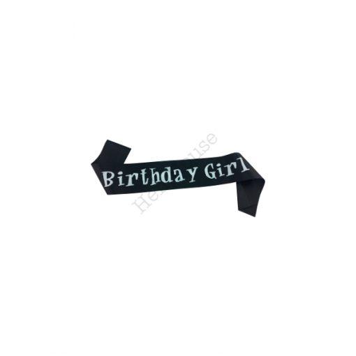 Black Birthday Girl Sash