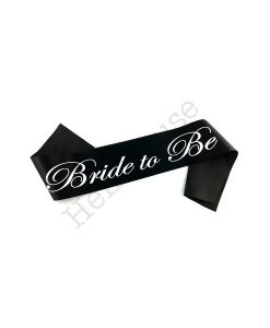 Black Bride to Be Sash