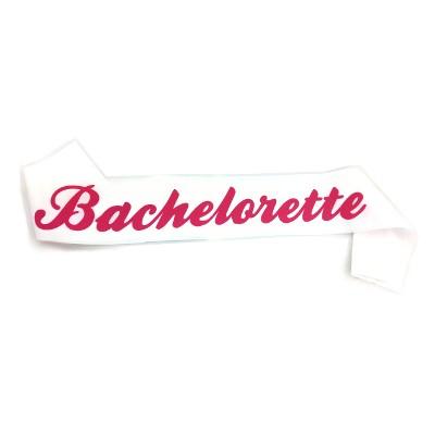 White Bachelorette Sash