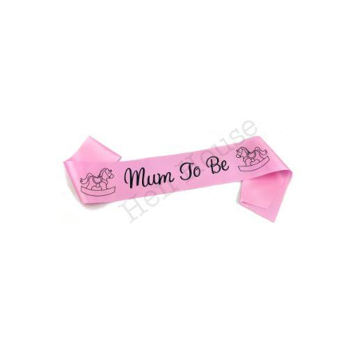 Pink Mum to Be Sash