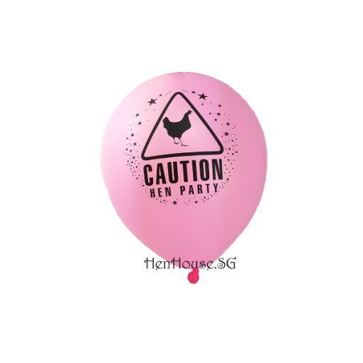 Caution Hen Party Balloon