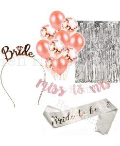 Rose Gold Bride Set