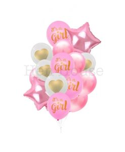 It's A Girl Balloon Set