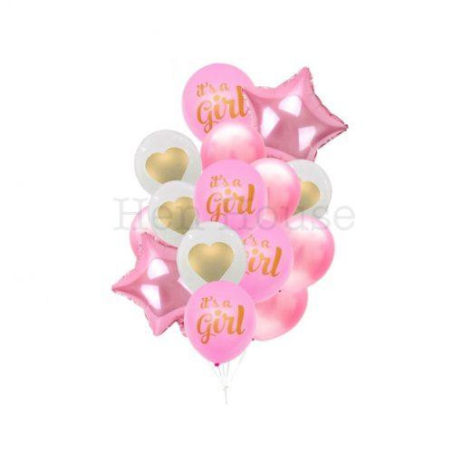 It's A Girl Balloon Set