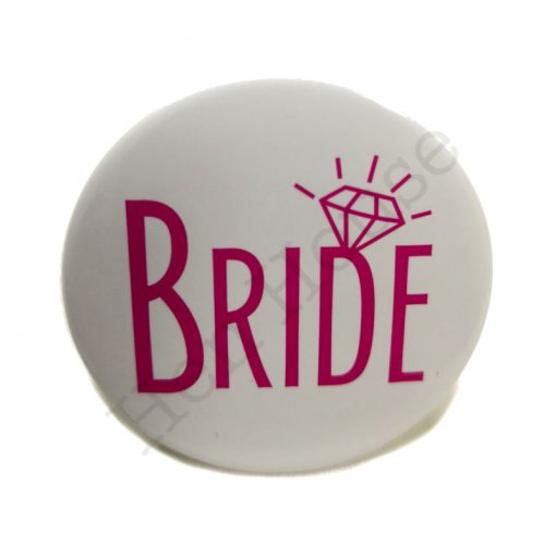 Bride Badge Pink