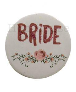 Floral Bride Badge